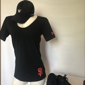 PINK SF GIANTS TOP 🖤🧡